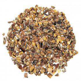 Mini pierres roulées oeil de tigre - 5 à 10 mm - 100 grammes