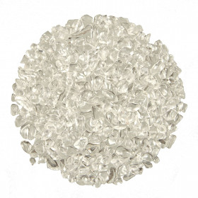 Mini pierres roulées cristal de roche - 5 à 10 mm - Qualité extra - 100 grammes