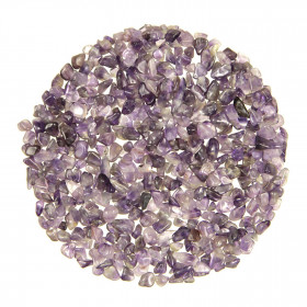 Mini pierres roulées améthyste - 5 à 10 mm - 100 grammes