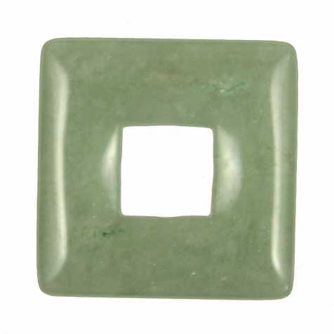 Donut carré en aventurine verte pour pendentif