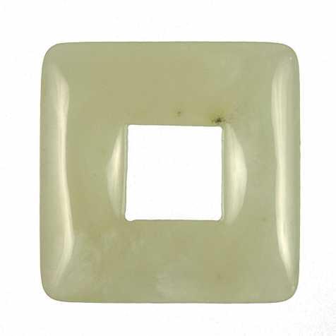 Donut carré en jade de Chine pour pendentif
