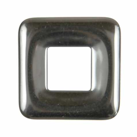 Donut carré en hématite pour pendentif