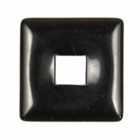 Donut carré en onyx pour pendentif