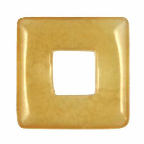 Donut carré en calcite orange pour pendentif