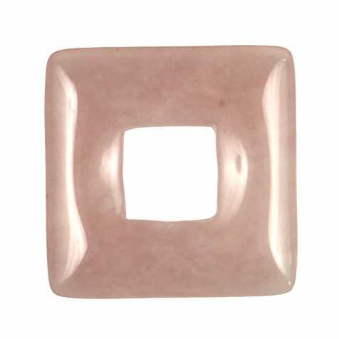 Donut carré en quartz rose pour pendentif