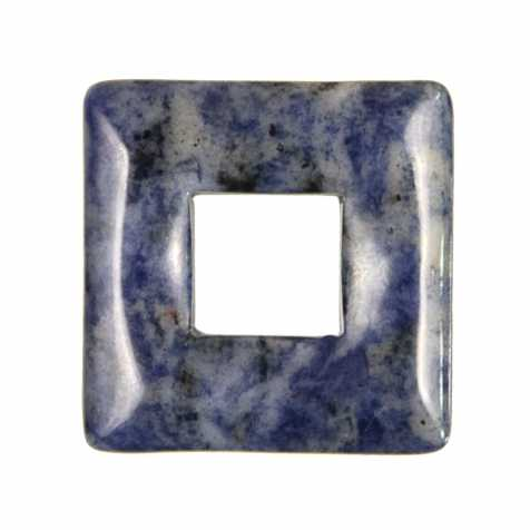 Donut carré en sodalite pour pendentif