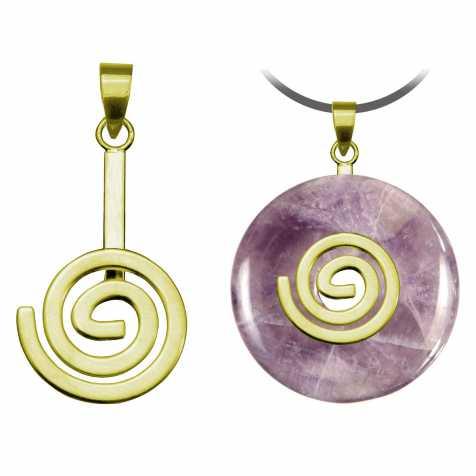 Support de donut spirale en métal doré