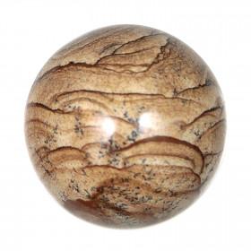 Sphère en jaspe paysage