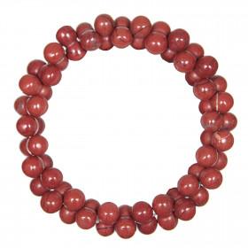 Bracelet petites perles en jaspe rouge