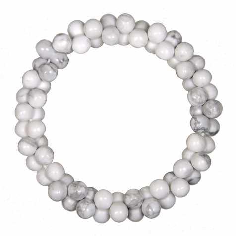 Bracelet petites perles en howlite