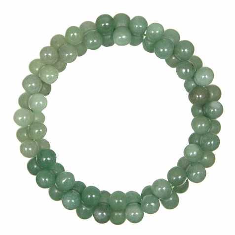 Bracelet petites perles en aventurine verte
