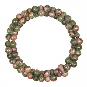 Bracelet petites perles en unakite