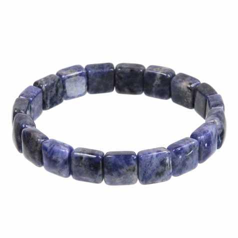 Bracelet perles carrées en sodalite