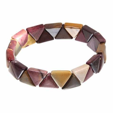Bracelet perles triangulaires en jaspe mokaite