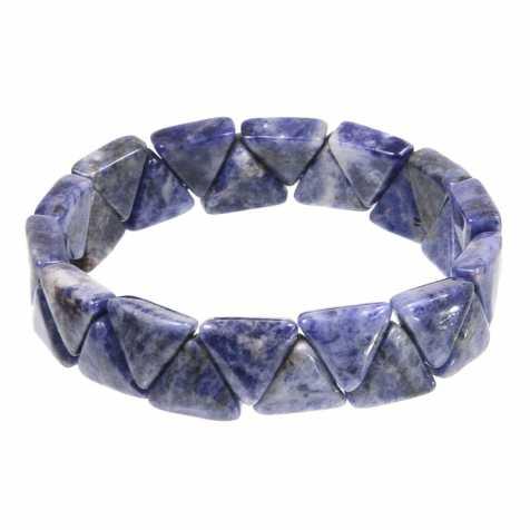 Bracelet perles triangulaires en sodalite