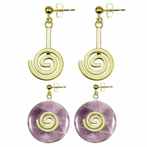 Boucles d'oreilles support de donut métal doré
