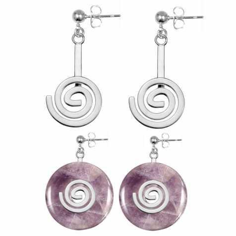 Boucles d'oreilles support de donut métal argenté