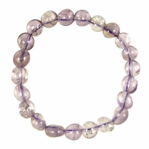 Bracelet en améthyste claire - Perles pierres roulées
