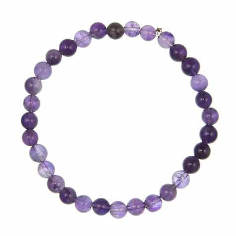 Bracelet en améthyste - perles rondes