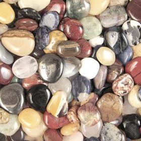 Lot de galets roulés avec pochette offerte - Mélange Brésil - 200 g