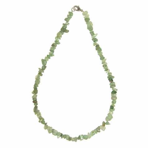 Collier de pierre en aventurine verte - perles baroques - 45 cm
