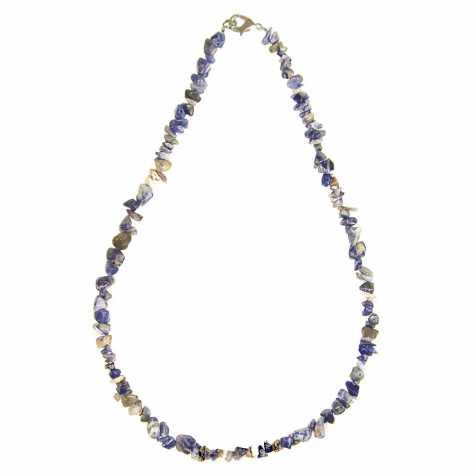 Collier de pierre en sodalite - perles baroques - 45 cm