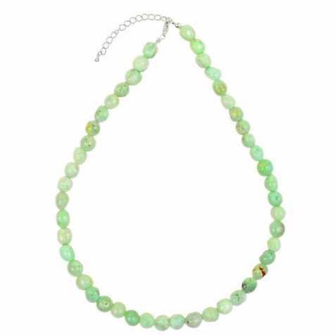Collier en chrysoprase - Perles pierres roulées