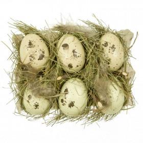 Boite à oeufs déco à la façon nid d'oiseau