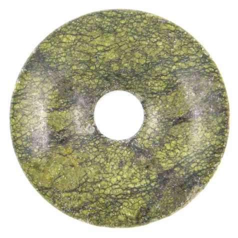 Donut Pi Chinois en serpentine mamba stone pour pendentif