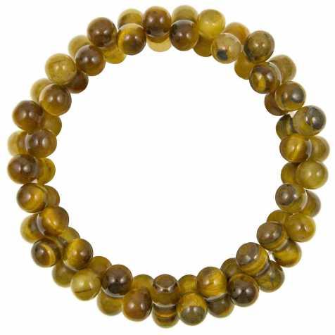 Bracelet petites perles en oeil de tigre