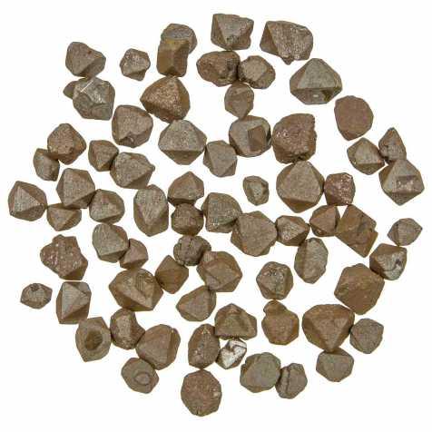 Pierres brutes octaèdres de magnétite - 0.5 à 1.5 cm - 15 grammes