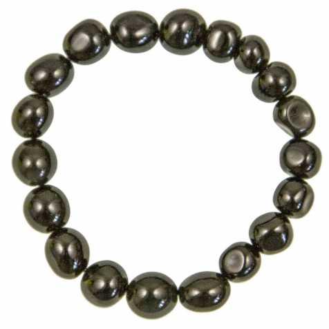 Bracelet en obsidienne oeil celeste - Perles pierres roulées