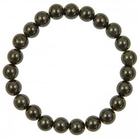 Bracelet en obsidienne oeil céleste - perles rondes