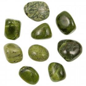 Pierres roulées jade néphrite du Canada - 1.5 à 2 cm - Lot de 2