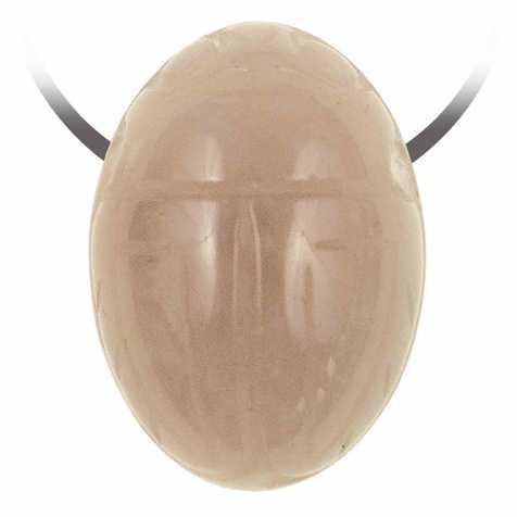 Pendentif pierre percée scarabée en quartz rose