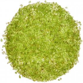 Sable de péridot roulé 2/4 mm - Qualité extra - 100 grammes