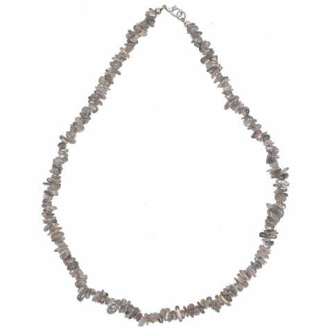 Collier de pierre en labradorite - perles baroques - 45 cm