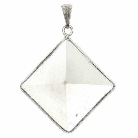 Pendentif pyramide en cristal de roche