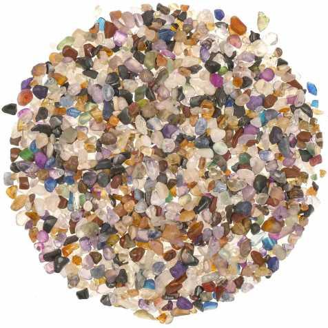 Lot de mini pierres roulées avec pochette offerte - Mélange Brésil - 3 à 8 mm - 800 g