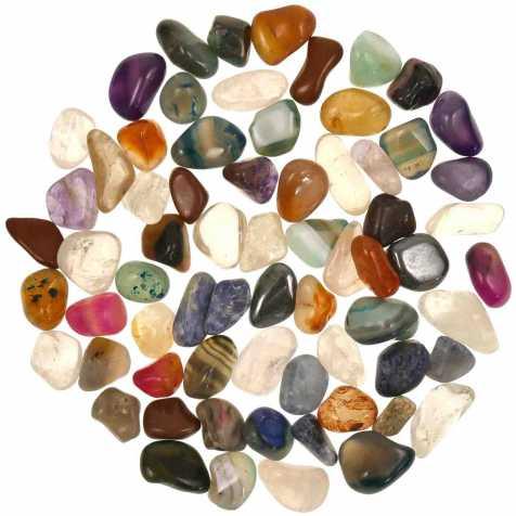 Lot de pierres roulées avec pochette offerte - Mélange Brésil - 1.5 à 2 cm - 800 g