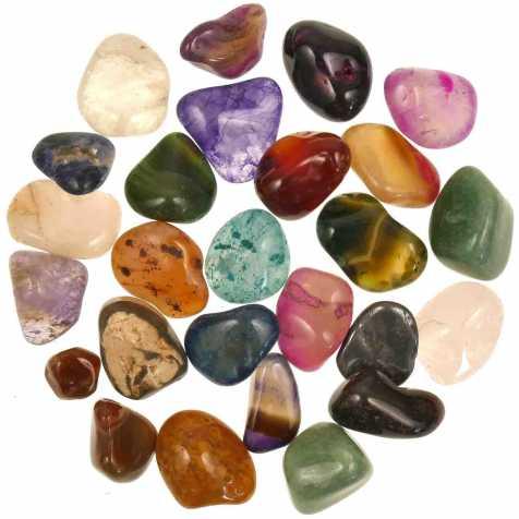 Lot de pierres roulées avec pochette offerte - Mélange Brésil - 2.5 à 3 cm - 800 g