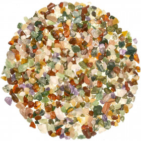Lot de mini pierres roulées avec pochette offerte - Mélange Inde - 5 à 10 mm - 800 g