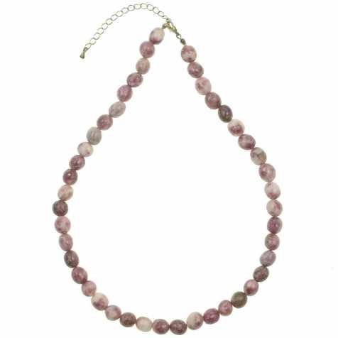 Collier en lépidolite - Perles pierres roulées