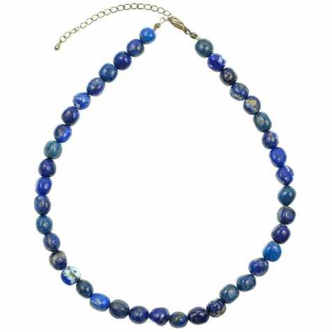 Collier en lapis lazuli - Qualité extra - Perles pierres roulées