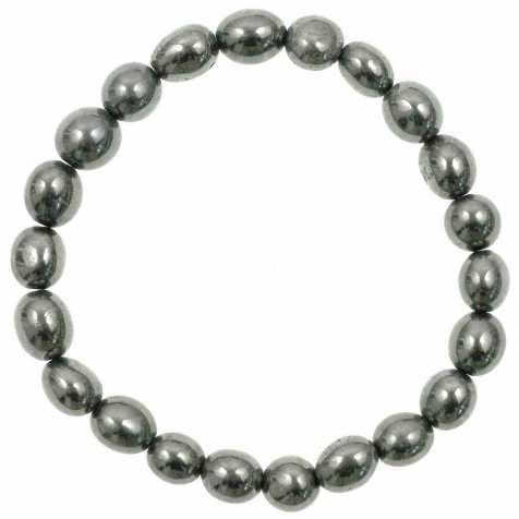 Bracelet en hématite - Perles pierres roulées