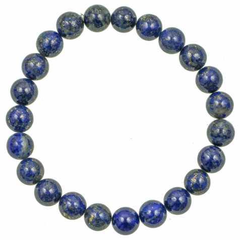 Bracelet en lapis lazuli - Qualité extra - perles rondes