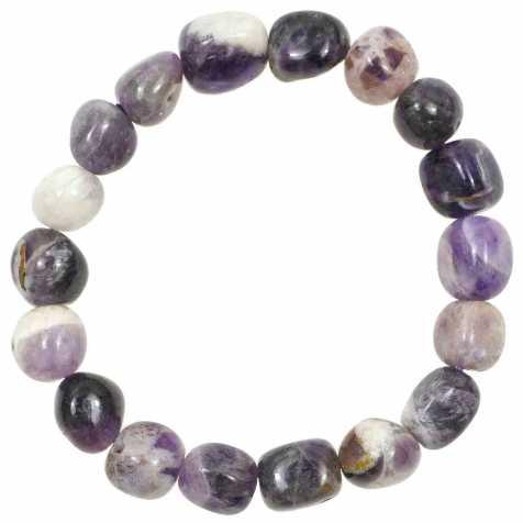Bracelet en améthyste à chevron - Perles pierres roulées