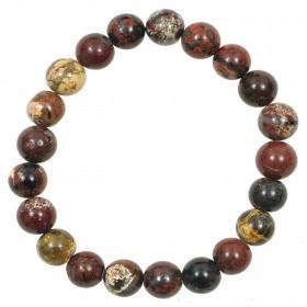 Bracelet en jaspe breschia - perles rondes