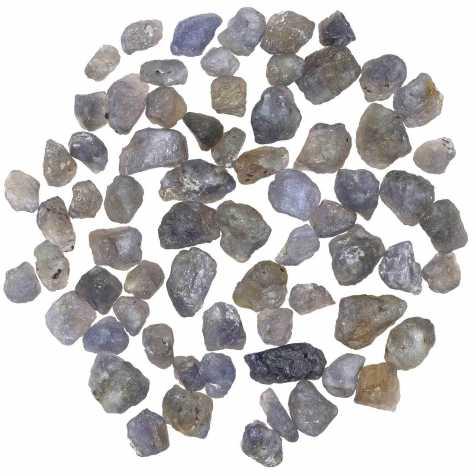 Pierres brutes iolite (ou cordierite) - 1 à 2 cm - 15 grammes