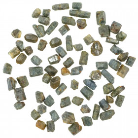 Cristaux bruts de saphir bleu - 8 à 16 mm - 10 grammes